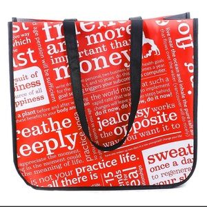Lululemon Athletica Large Red Shopping Tote Bag
